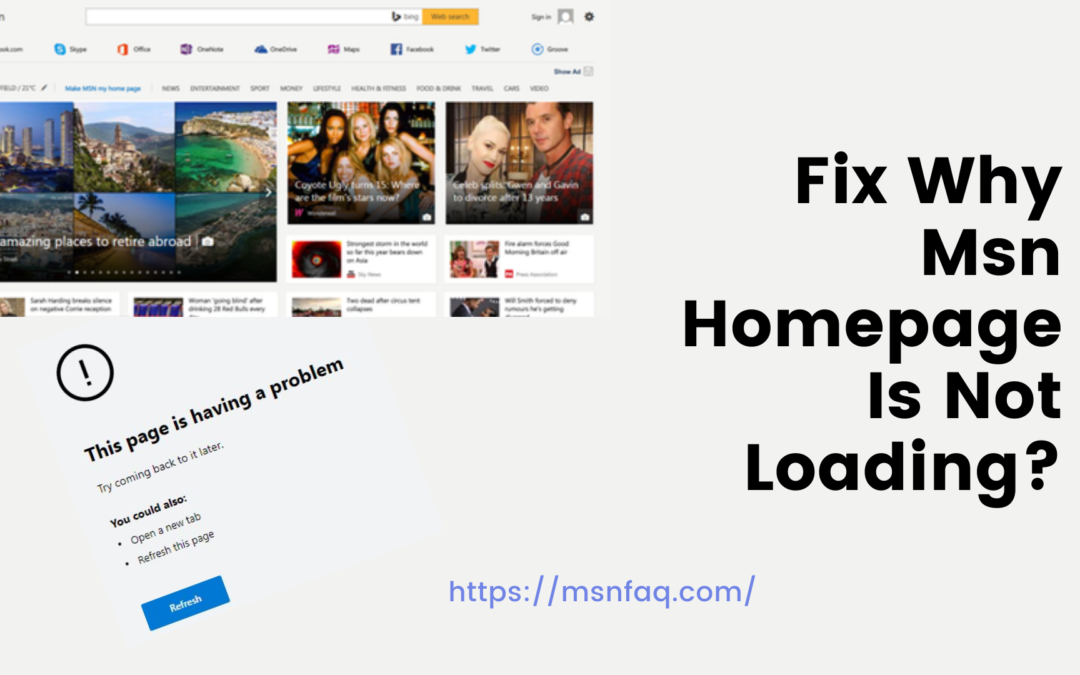 Fix Why Msn Homepage Is Not Loading?